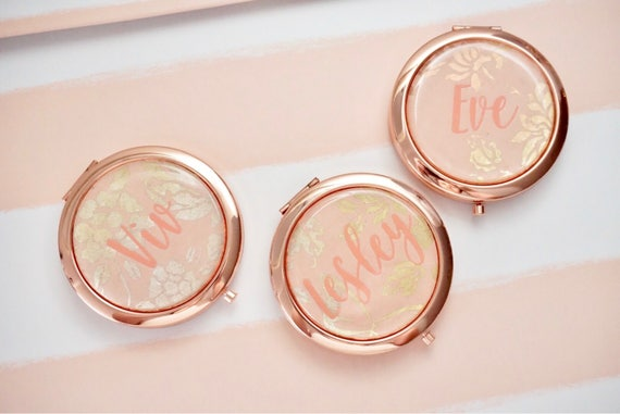 personalized compact mirror rose gold compact mirror gold. Black Bedroom Furniture Sets. Home Design Ideas