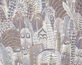 KAFFE FASSET FEATHER grey PATCHWORK fabric