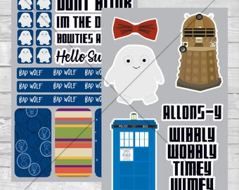 Doctor Who Planner Stickers (Digital Download)