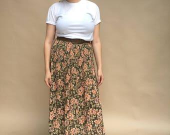 Sag Harbor Floral Mid Length Skirt