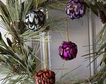 Dyed Venery Feather Ornaments -  O2VPD