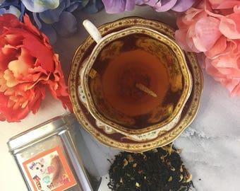 Chocolate Orange Black Loose Leaf Tea 1.5 oz Kitty Label Tin Tea Caddy