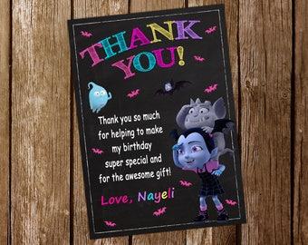 Vampirina Thank You Card Vampirina Invitation Vampirina Birthday Party Vampirina Printable