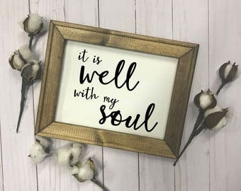 It Is Well With My Soul Canvas Sign