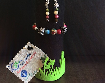 Jewellery to which are approached, in a creative way, silver 925, Indian silver and TAGUA seeds.