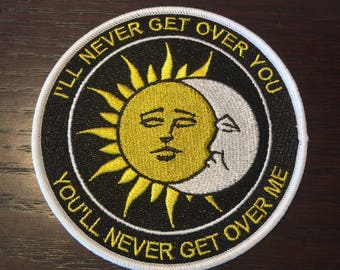 Sun & Moon Eclipse Patch - Iron On, Sew On, Embroidered Applique