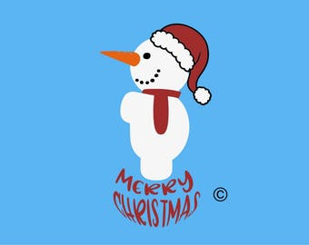 snowman christmas SVG Clipart Cut Files Silhouette Cameo Svg for Cricut and Vinyl File cutting Digital cuts file DXF Png Pdf Eps