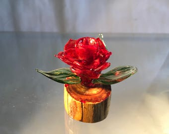 Small glass rose
