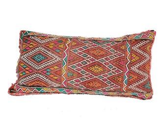 Vintage Kilim Pillow Morocco 60 x 32 cm