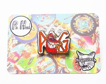 90's POGs Lapel Pin, POG Enamel Pin, 90's Kids Games, Slammers, Hard Enamel Hat Pin, 90's Retro, Nostalgia Gifts, Best friends, Pin Head