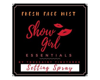 Fresh Face Setting Spray by Showgirl Essentials |  Make Setting Spray  |  Facial Mist | Toner | Daily Refresher Spray | TRAVEL Size