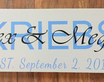 Wedding Wood Sign, Couples Name and Wedding Date, Personalized Wedding Gift for couple, Anniversary Gift