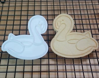 Flamingo Rubber Ring Cookie Cutter and Stamper