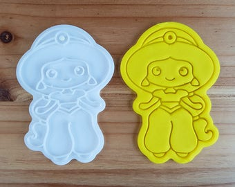 Jasmine  Cookie Cutter and Stamp