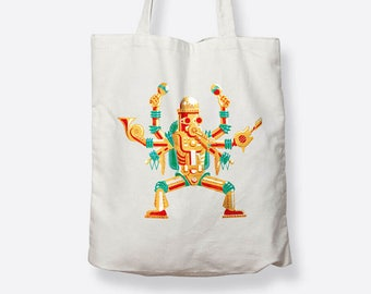 Illustrated tote bag - fair trade cotton tote, tote bag, gift