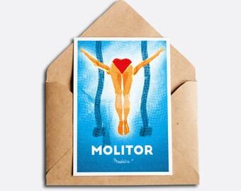Molitor - Vintage greeting card