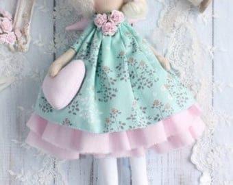 Decor-Handmade doll, handmade doll, Tilda doll, Angel Doll, Angel Doll, Fielana Doll
