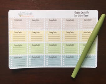 Cleaning Checklist -- made for the Erin Condren Planner