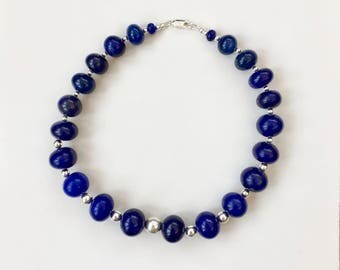 Sapphire and Sterling Silver necklace