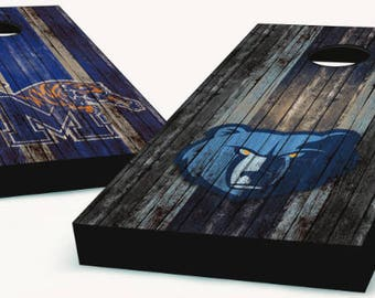 Memphis Tigers and Grizzlies Cornhole Boards