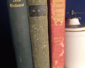 Antique lot of 3 books