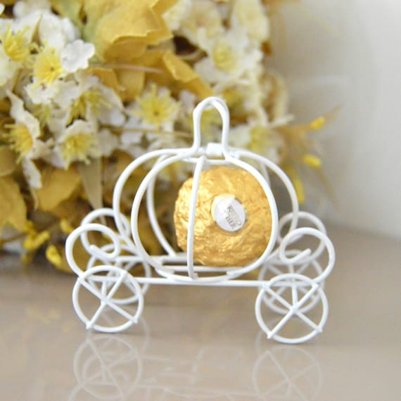 Cinderella Pumpkin Carriage Wedding Favor Box Idea Pumpkin