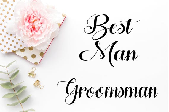 best man groomsman 2 pack svg best man png best man dxf