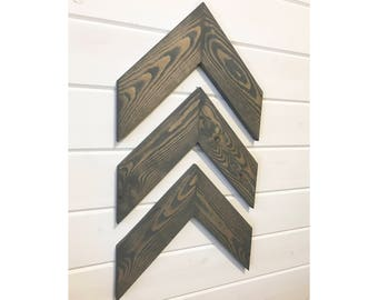 ON SALE! Chevron Wood Wall Arrows - Set of 3 - Chevron Wall Decor
