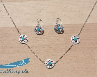 Lizzie Trio Necklace and Earring set