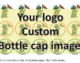 Custom Bottle cap images . Personalized image or logo