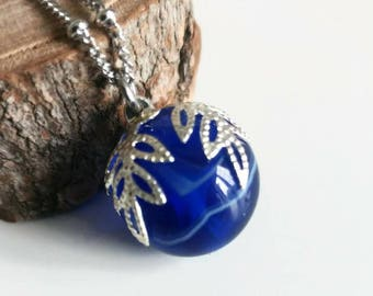 Glass pendant, glass Lampwork beads. Luluverre creation