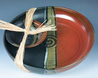 ceramic bowl set, chip and dip, fruit bowl,salad bowl, stoneware bowls, handmade pottery bowls,bowls,snack dish,ceramic serving dish