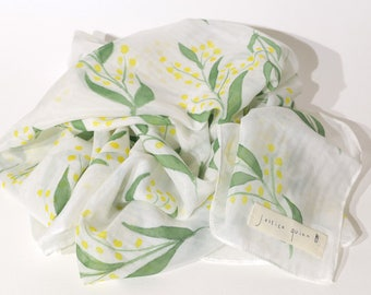 Wattle Silk Scarf