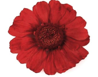 Pressed dried flowers, small red chrysanthemum 20pcs, floral art, craft, card making, jewellery making, scrapbooking