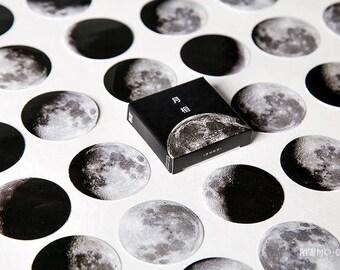 45 Pcs/box Moon Mini Paper Sticker Decoration - Ablum Diary Scrapbooking Label Sticker - Stationery - School Supply