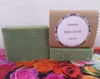 Irish Clover Soap, Irish Clover Soap Bar, Herbal Soap, Herbal Soap Bar, Herbal Bath Soap, Handmade Soap, Natural Soap, Vegan Soap
