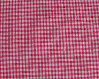 Gingham red Plaid cotton fabric