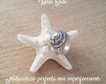 Spiral sea shell - ring Silver ring hand made - original rings