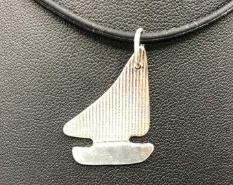 FIne silver sailboat pendant