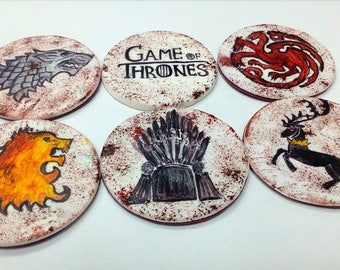 Game of Thrones 6 psc handmade Edible topper cupcake