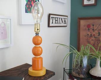 Vintage Geometric Sphere/Cylinder Lamp