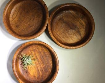Midcentury Modern Teak Bowls, Winsome Wood (3)