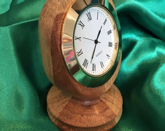 Small clock in turned wood