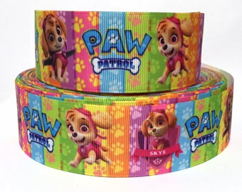 """GROSGRAIN RIBBON 1.5"""" Paw Patrol Dogs P29 Printed  By the Yard"""