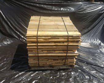 Bulk Reclaimed Pallet boards 400 board cube