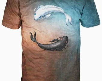 New Ultramodern 3D Printed High Quality  Fish Men's T-shirt