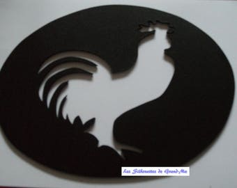 Barnyard rooster, wall decor wooden