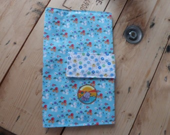 A health booklet protection cover floral
