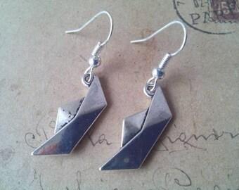 Boat earrings ~ silver ~