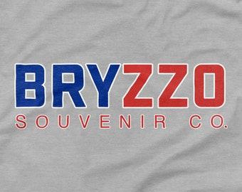 Chicago Cubs Shirt BRYZZO Souvenir Company Gray Size S M L XL 2XL 3XL Wrigley Field 2016 World Series Champions Kris Bryant Anthony Rizzo